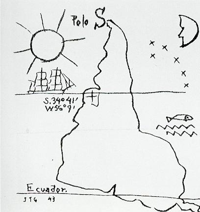 """""""Nuestro norte es el Sur"""", declaraba en 1936 el pintor uruguayo Joaquín Torres García."""