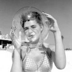Leatrice Jackson blows a bubble balloon - Panama City Beach
