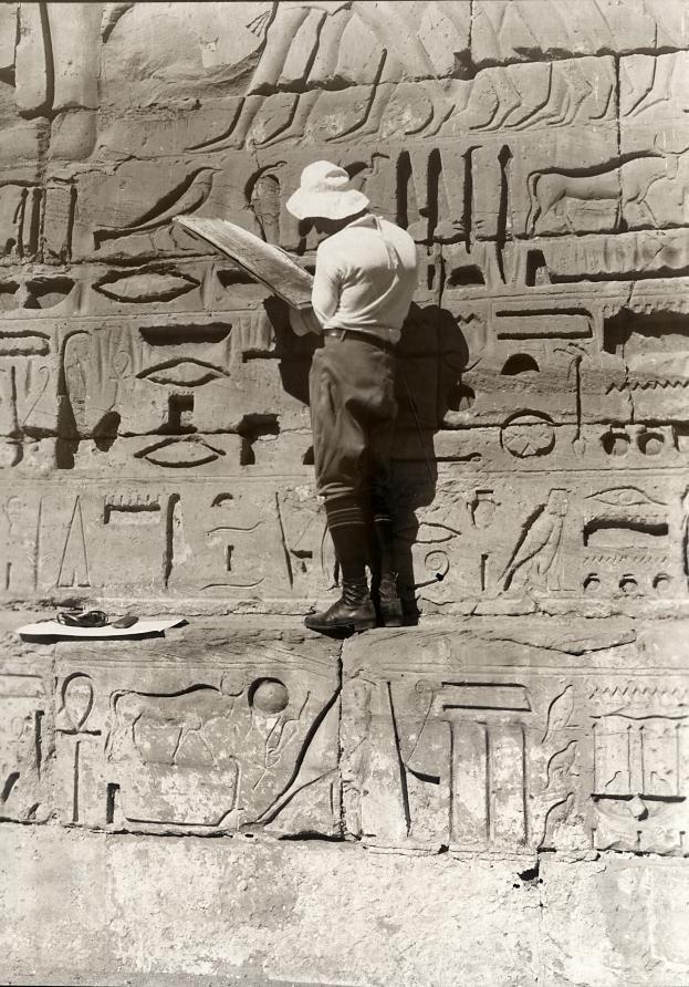 Hiëroglyfen kopiëren / Copying Egyptian hieroglyphs
